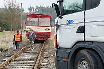 K dopravní nehodě došlo v tomto týdnu na železničním přejezdu ve Skviříně