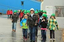 Z exkurze dětí do scwandorfské spalovny.