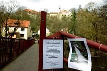 Červená lávka ve Stříbře.