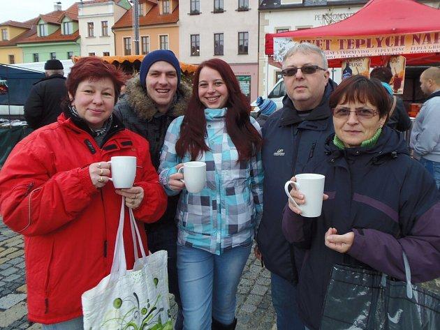 Na náměstí ve Stříbře se konaly stříbrné trhy