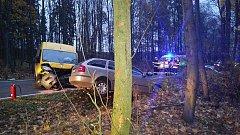 Nehoda tří vozidel u Trnové