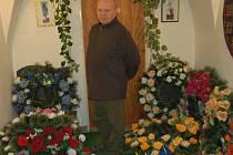 Majitel pohřební služby v Plané Jiří Kudrna