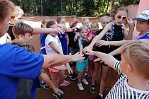 Dětské minisoustředění OSR DDM Stříbro v Kladrubech.