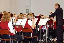 Výroční koncert  tachovského Dechového orchestru mladých se uskutečnil ve společenském sále Mže v Tachově.