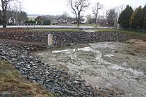 Opravený rybník v Čečkovicích.
