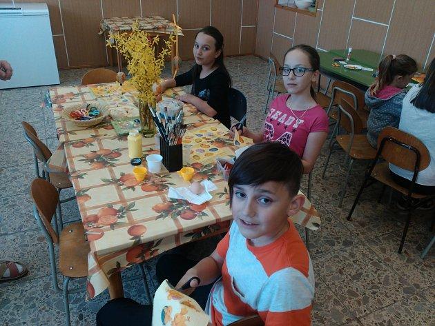 Velikonoční dílna v Základní a Mateřské škole v Lesné.