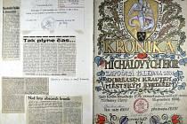Kronika Michalových Hor založená 15. ledna 1836, do které zapisoval a ilustroval jí kronikář Vojtěch Válek.