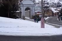 Tachov. Západní městská brána.
