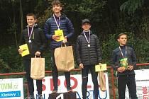 Triumf Baníku! Na stupních vítězů (zleva) druhý Jiří Špiroch a vítězný Michal Pergler.