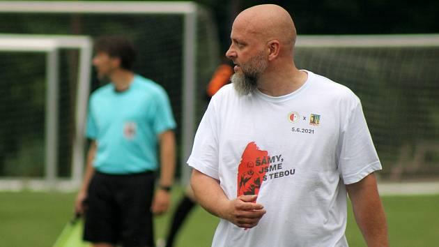 Trenér Stříbra Lukáš Pleško.