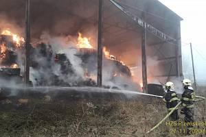 Požáv v Chodském Újezdě.