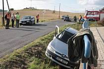 Při nehodě za Tachovem ve směru na Halži havarovala tři vozidla.