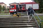 Základní škola Hornická Tachov - vytopená škola, zásah hasičů
