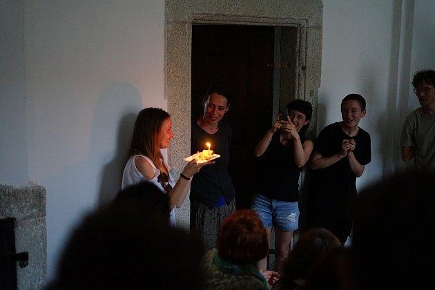 V kladrubském klášteře se uskutečnila Performance nazvaná Corridor Piece.