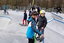 Tachovský skatepark ještě před dobou ´koronavirovou´. Využívat ho je však možné i nyní.