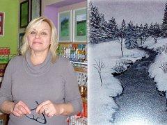 Ivrin Dušková vystavuje Opuštěné krajiny.