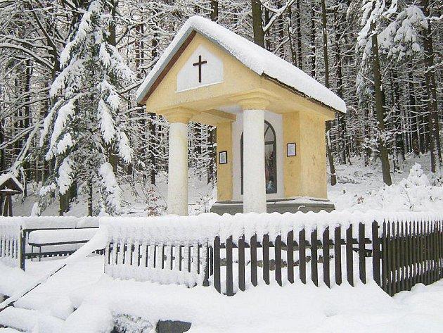 Kaplička Panny Marie za Podkovákem.