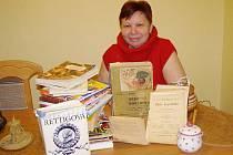 Miluše Kantnerová ráda vaří, a proto sbírá recepty a kuchařky. Knih má několik desítek a receptů se nedopočítá.