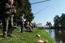 Rybářská soutěž na Velkém Himeraichu u Stráže.