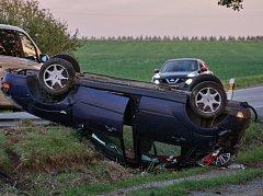 Dopravní nehoda se stala v pondělí v podvečer u Regentu poblíž Chodové Plané