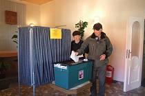 Z volební místnosti v Přimdě