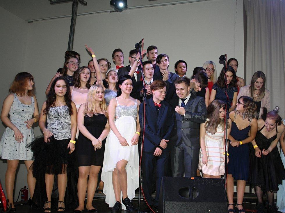 Příznivci a členové Fusion klubu Tachov na plese v lednu 2018.