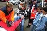 U Městského stadionu v Tachově se uskutečnila ukázka činnosti složek Integrovaného záchranného systému.