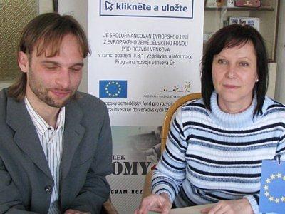 Marcel Hlaváč a Marie Platzká nás informovali o projektu Klikněte a uložte.
