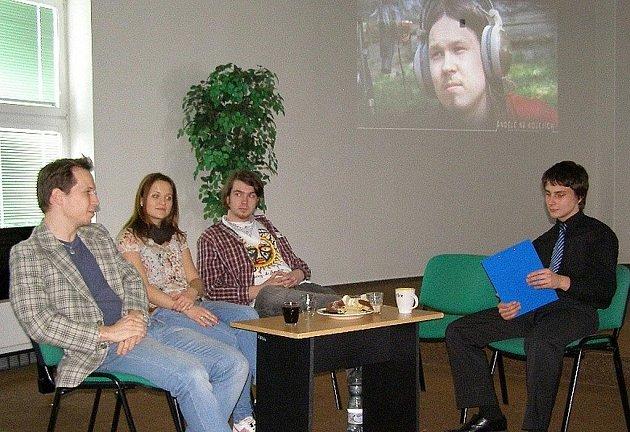 Beseda s amatérskými filmaři na stříbrském gymnáziu.