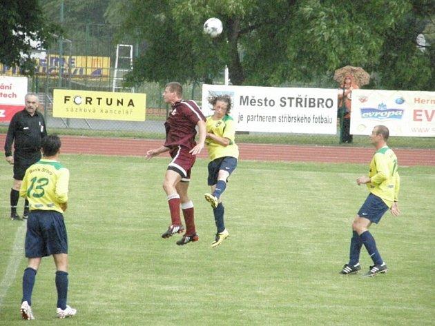 Utkání 1. A třídy B. Stříbro – Město Zbiroh skončilo výhrou domácího celku 2:0