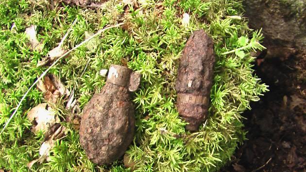 Nález nevybuchlé munice z druhé světové války na Tachovsku.