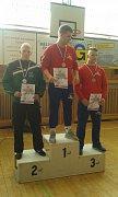 Stříbrný Bohuslav Pírka na stupních vítězů (zcela vlevo). Foto Tomáš Adam
