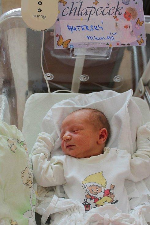Mikuláš Auterský (3660 g, 50 cm) přišel na svět 10. července ve 14:21 vplzeňské fakultní nemocnici. Rodiče Jana a Martin ze Šlovic věděli dopředu, že prvorozený Jakub (9) bude mít brášku.