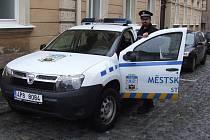 MĚSTSKÝ STRÁŽNÍK Jiří Sigmund používá nový služební vůz od začátku září, stejně tak jako jeho tři stříbrští kolegové.