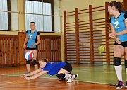 Z volejbalového utkání Kladruby - Domažlice.