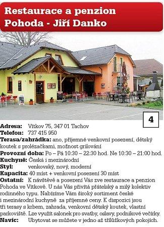 4. Restaurace a penzion Pohoda - Jiří Danko