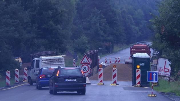 Rekonstrukce mostu u Milíkova