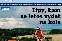 V úterý 25. dubna vychází CykloDeník – 32 stran informací pro cyklisty a cykloturisty.