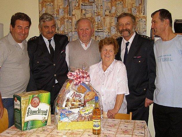 Emil Janča, František Ammerling, Karel Med, Marie Medová, František Semorád a Karel Med ml.