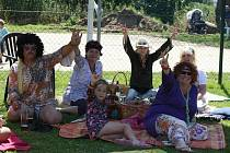Ve Svaté Kateřině se konal retro piknik.
