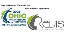 NÁPADNĚ PODOBNÁ LOGA. Vpravo vítězné logo ze soutěže Revisu, vlevo logo použité v roce 2006 v USA.