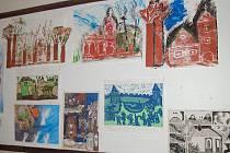 U příležitosti místní pouti se v Olbramově konala výstava dětských ilustreací ke knize krajových pověstí.