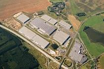 Logistický park na leteckém snímku