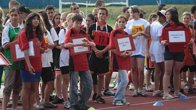 Mistrovství České republiky žáků základních škol praktických a speciálních v atletickém čtyřboji.