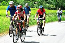 Slavnostní zprovoznění části panevropské cyklotrasy.