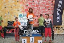 Do soutěže lezení na obtížnost se přihlásilo čtařiašedesát účastníků.