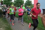 Účastníci běhu krátce po startu.