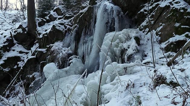 Dva z ledopádů na Tachovsku. Na Mži a u Křínova.