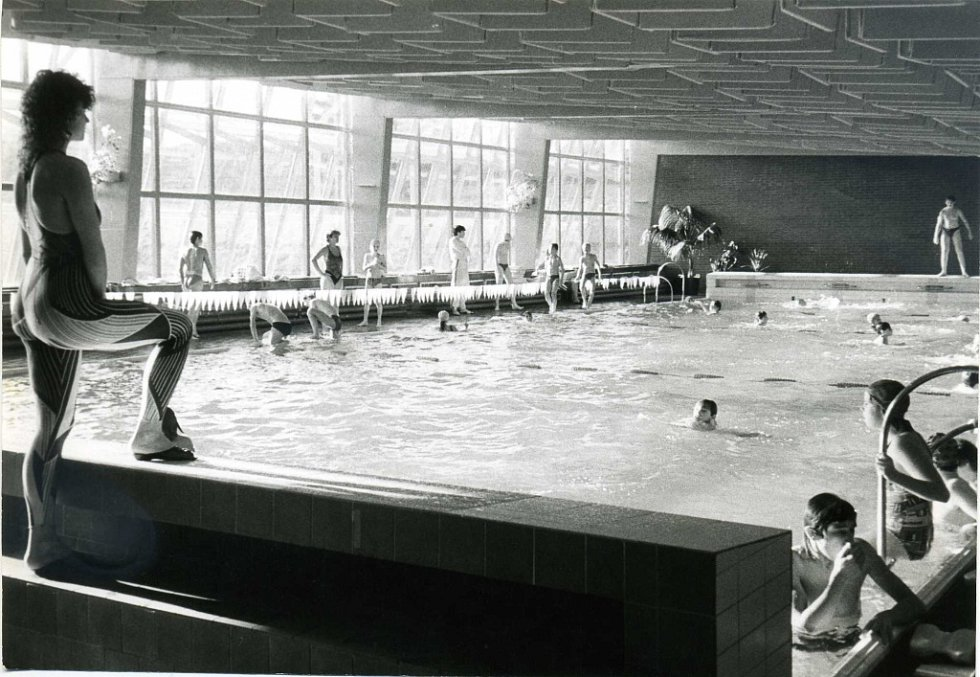 Z historie bazénu v Tachově