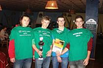 Družstvo Střední průmyslové školy Tachov se stalo po třetí za sebou Přeborníkem České republiky v bowlingu škol se stavebním zaměřením.